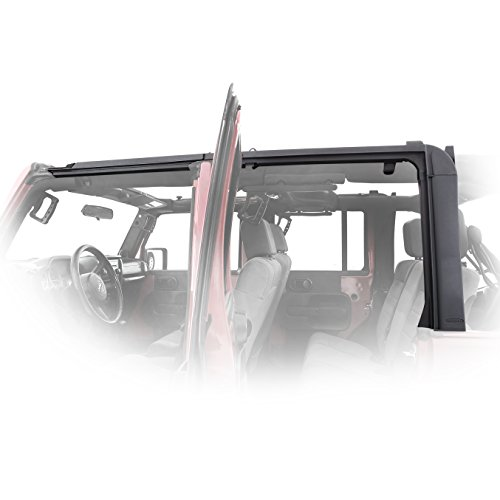 Smittybilt 91406 Soft Top Door Surrounds for Jeep JK 4-Door (Best Jk Soft Top)