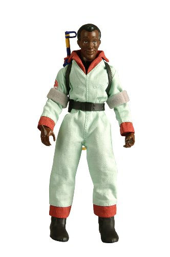 Ghostbusters Costume With Real Proton Pack (Retro-Action Ghostbusters Winston Zeddemore Collector Figure)