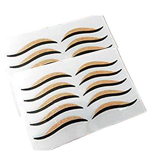 2 Sheets (10 Pairs) Cat Eye Makeup Paper Eyelid Stickers Temporary Eye Liner Waterproof Eyeshadow Stickers Slim…