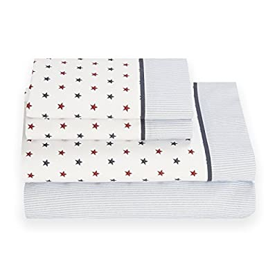Tommy Hilfiger Union Stars Sheet Set, Full - Style your sleep time sophisticated with Tommy Hilfiger's Novelty Novelty bedding collection featuring our trademark twist on the traditional - sheet-sets, bedroom-sheets-comforters, bedroom - 41xwA9yYelL. SS400  -