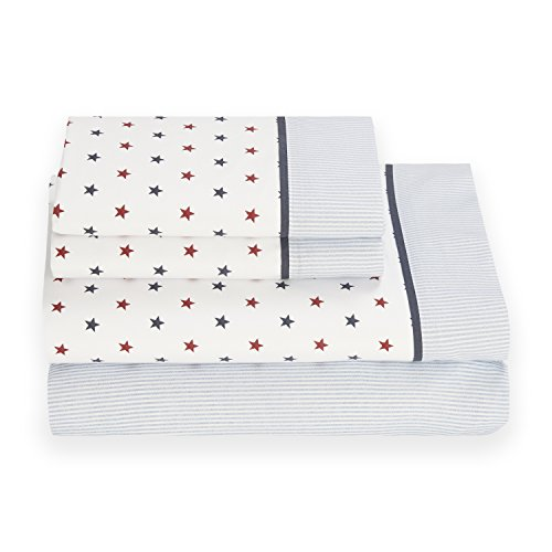 (Tommy Hilfiger Union Stars Sheet Set, Queen)