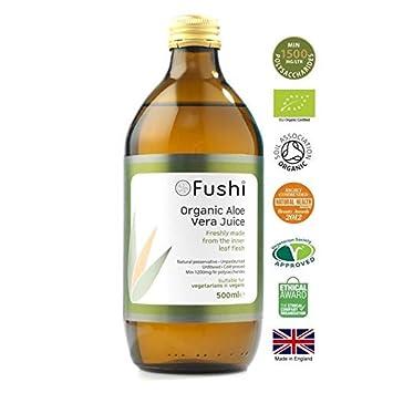 Amazon com : Fushi Organic Aloe Vera Juice - 500ml (16 91fl