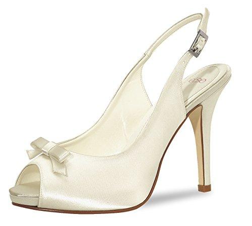 else Brautschuhe Calicio Satin Ivory Hochzeitsschuhe High Heels Wedding Shoes