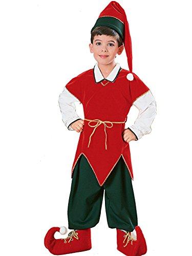 Elf Kids Costumes - Rubie's 10129 Children velvet Elf Suit