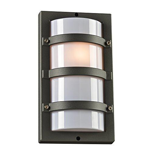 Flush Wall Light Fitting (PLC Lighting 4040BZ 1-Light Spa Collection Outdoor Fixture, Bronze Finish)
