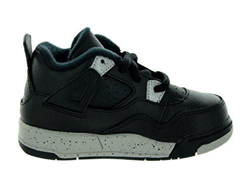 Nike Air Jordan 4 Retro Ls Bt Scarpe Da Ginnastica Bambino 707432 Scarpe Da Ginnastica Nere, Grigio Tech Nero