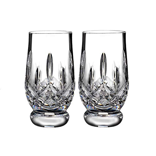 Waterford Crystal Lismore Footed Whiskey Tasting Tumbler Glass Glassware Set of 2 5.5 fl oz