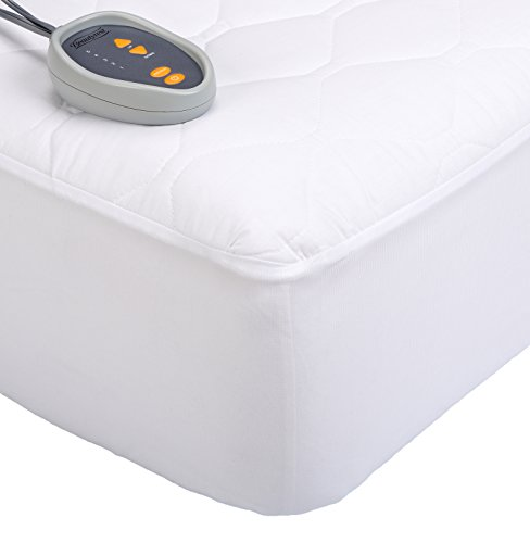 Beautyrest Down 200-Thread Count Cotton Blend Heated Mattress Pad, California King, White (Mattress California Cotton King)