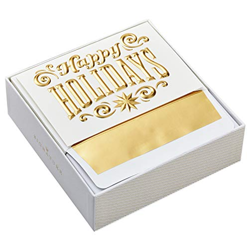Hallmark Signature Holiday Boxed Cards, Happy Holidays (12 Christmas Cards with Envelopes)]()
