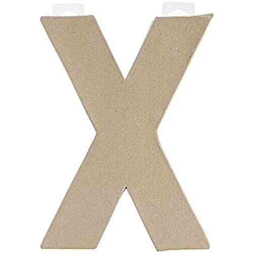 3-Pack Darice DIY Crafts Paper Mache Letter D 8 x 5.5 x 1 inches 2862-D Bulk Buy