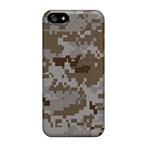 Shock-Absorbing Hard Phone Covers For Iphone 5/5s With Allow Personal Design High-definition Camo Desert Digital Pattern CharlesPoirier
