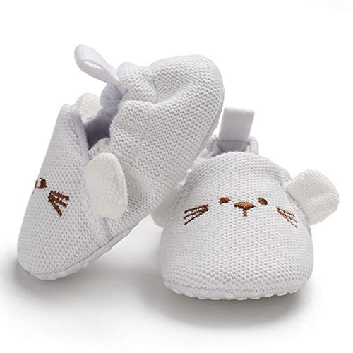 Sawimlgy Infant Baby Boys Girls Non Slip Walking Slippers Socks Shoes Soft Sole Booties with Grip Home Moccasins Newborn Gift First Crib Shoes