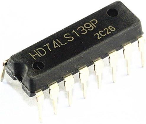 5PCS HD74LS139P DIP IC HITACHI NEW