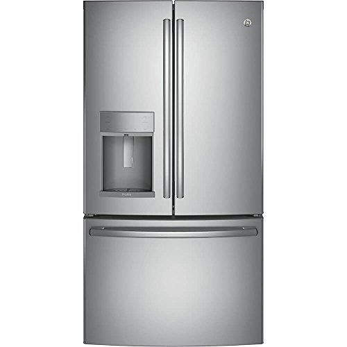 GE Profile Series Energy Star Stainless Steel 22.2 cu.ft. French-Door Refrirator with Hands-Free Autofill (Steel Ge Stainless Refrigerator Profile)
