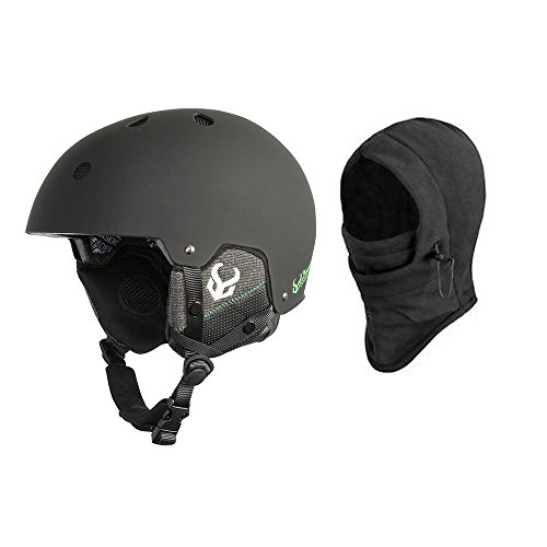 Demon Faktor Ski and Snowboard Helmet w/Audio and Balaclava (Black, Lrg/XL 59-61cm)