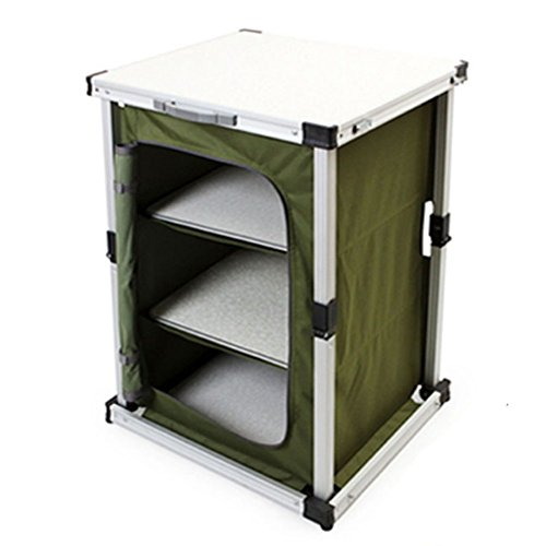 [Campist One Action Foldable Storage Room / Camping Cabinet / Outdoor Cabinet / Sports Cabinet] (70s Jewellery Disco)