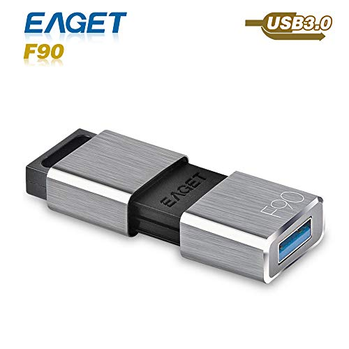 Eaget F90 USB 3.0 High Speed Capless USB Flash Drive,Water Resistant Pen Drive,Shock Resistant Thumb Drive,32GB by Eaget