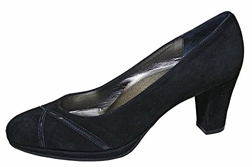 Pumps Lady in gemustert Raffy Lackleder schwarz Wildleder p7gU7v
