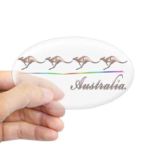 (CafePress Australia Oval Sticker Oval Bumper Sticker, Euro Oval Car Decal)