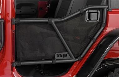 Warrior Products 90777 Rear Tube Door Mesh Cover for Jeep JK Unlimited 07-10 (Door Mesh Tube Cover)