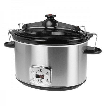 Kalorik 8 Quart Slow Cooker, Digital Programmable Oval Cook