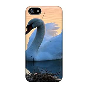 Iphone 5/5s HDhUknP3665yUXrG A Swan Tpu Silicone Gel Case Cover. Fits Iphone 5/5s