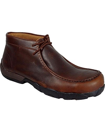 Twisted Rust Toe Lace Shoes Men's Driving Composition Up Moccasin Oiled X wnvrw4qa