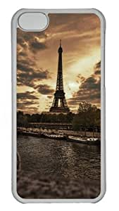 iPhone 5C Cases & Cover - Eiffel Tower View Protective PC Hard Plastic Case for iPhone 5C - Transparent
