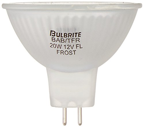 12v 20w Clear Halogen Flood - Bulbrite BAB/TFR 20-Watt 12-Volt Halogen MR16 Total Frost Bi-Pin, Flood