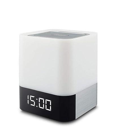 Lámpara De Noche LED Con Altavoces Inalámbricos Bluetooth Toque ...