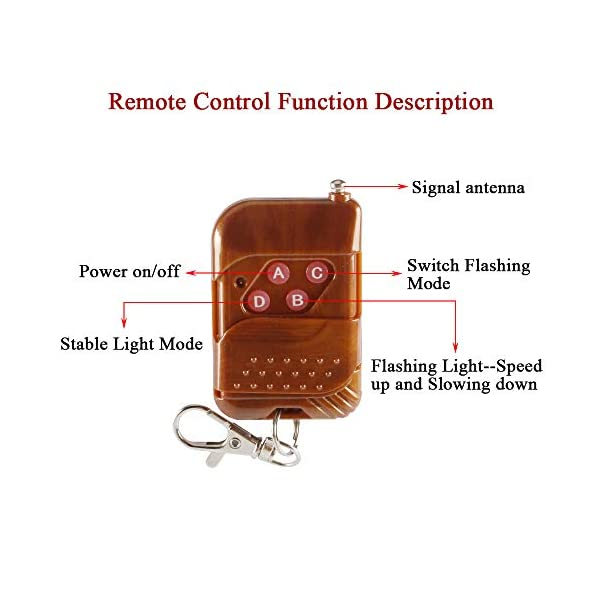 4x4 LED luz de advertencia estroboscópica DC12V intermitente de emergencia lámpara de baliza remoto inalámbrico advertencia estroboscópica luz externa de emergencia para camión caravana Camper 4