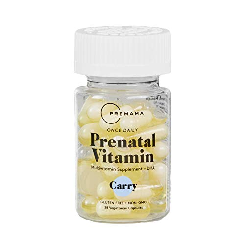 PREMAMA - Prenatal Multivitamin - Prenatal Vitamins with DHA - Non GMO & Vegetarian Prenatal Vitamins with Iron & Folate (28 Prenatal Pills) (Whats The Best Prenatal Vitamin)