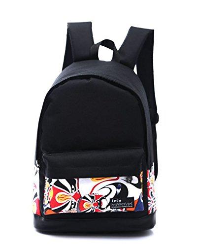 Keshi Neu Faschion Rucksäcke Damen Mädchen Schüler Lässige Canvas Rucksack Vintage Backpack Daypack Schulranzen Schulrucksack Wanderrucksack Schultasche Rucksack für Freizeit Outdoor Sport Leinwand Mehrfarbig 1 0kgMbI