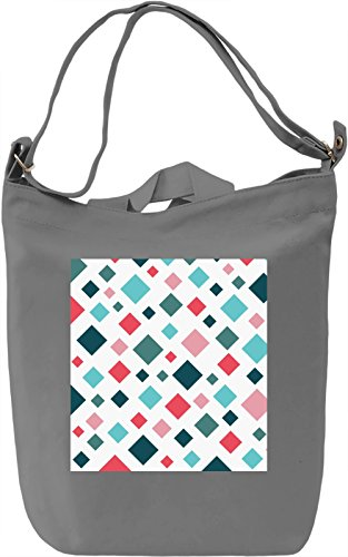 Colorful Geometrical Print Borsa Giornaliera Canvas Canvas Day Bag| 100% Premium Cotton Canvas| DTG Printing|