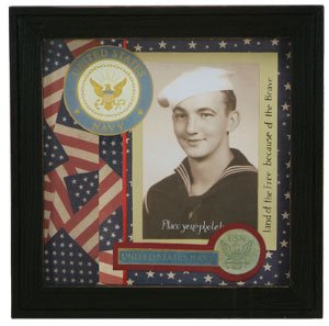 patriotic navy military scrapbook picture frame shadowbox united states navy