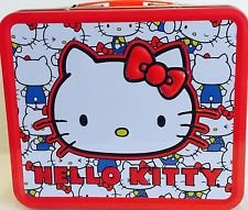 (Hello Kitty Lunch Box Vintage Kitty Head New Licensed Gifts sanlb0163)