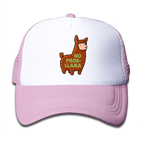 Baby No Prob-Llama Boys And Girls A Grid Baseball Cap Can Be Adjusted