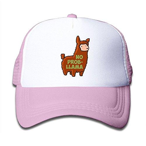 Baby No Prob-Llama Boys And Girls A Grid Baseball Cap Can Be Adjusted