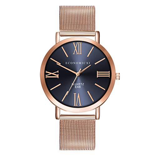 chenqiu Fashion Rose Gold Quartz Watch, Stainless Steel mesh Strap, Analog Quartz mesh Fashion Ladies Business Casual ()