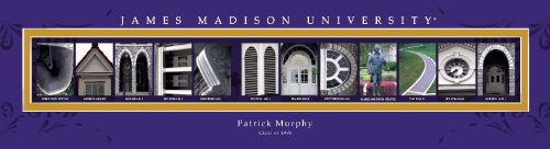 Madison Frame (James Madison University Personalized Framed Architecture Print in Wood)