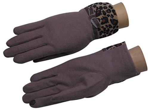 抵抗バストスプリット手袋 レディース タッチパネル対応 豹柄