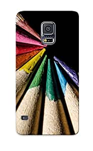 Crazinesswith Protection Case For Galaxy S5 / Case Cover For Christmas Day Gift(multicolored Pencils)