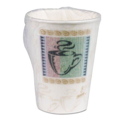 Dixie® PerfecTouch® Coffee Haze 8 oz. Insulated Paper Hot Cup - Individually Wrapped by Dixie