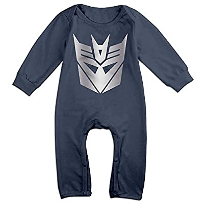 Baby Boys' Decepticon From Transformer Platinum Style Romper Jumpsuit Outfits