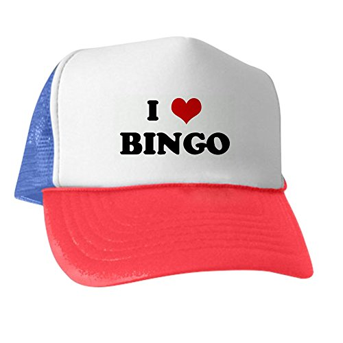 CafePress - I Love Bingo - Trucker Hat, Classic Baseball Hat, Unique Trucker Cap -