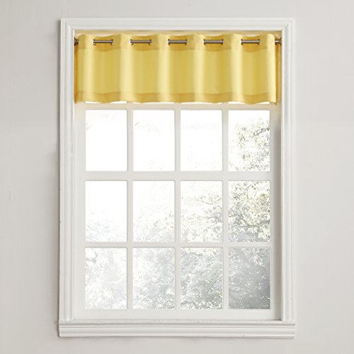No. 918 Montego Grommet Textured Kitchen Curtain Valance for sale  Delivered anywhere in USA