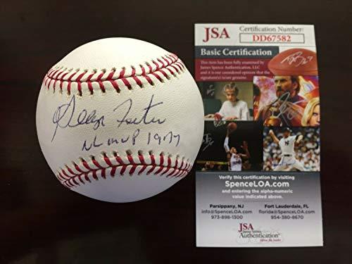 George Foster Single Autographed Signed Oml Baseball Inscribed Nl Mvp 1977 Memorabilia JSA Cm259 - Certified Signature