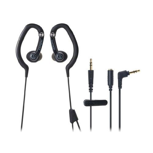 Audio Technica ATHCKP200BK Sportfit Headphones, Black