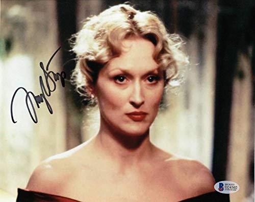 Meryl Streep Autographed Signed Memorabilia 8x10 Photo Sophies Choice Authentic Autograph Beckett Bas