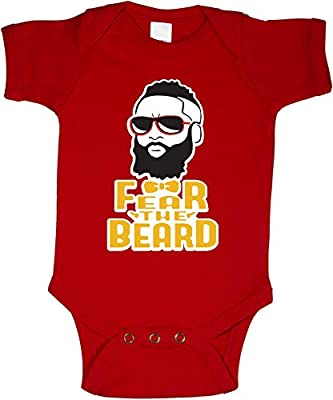 "The Silo RED Houston Harden ""Fear the Beard"" Baby 1 piece"